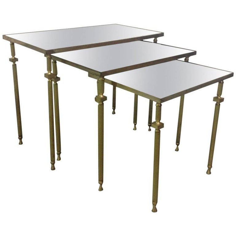 French, Nesting Tables by Maison Baguès For Sale