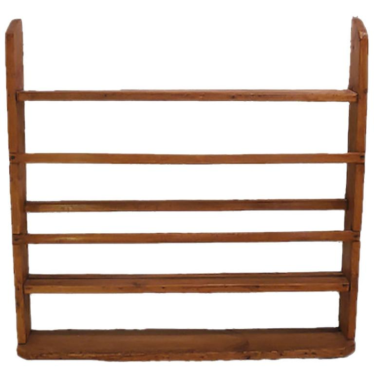 French 19th Century Wood Wall Plate Rack with Three Shelves For Sale  sc 1 st  1stDibs & French 19th Century Wood Wall Plate Rack with Three Shelves at 1stdibs
