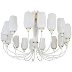 Angelo Lelli Inspired Grand White Italian Chandelier