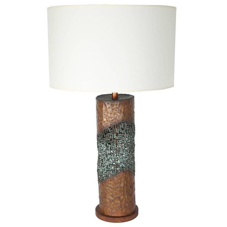 Marcello Fantoni 1960s Brutalist Torch Cut Table Lamp 1