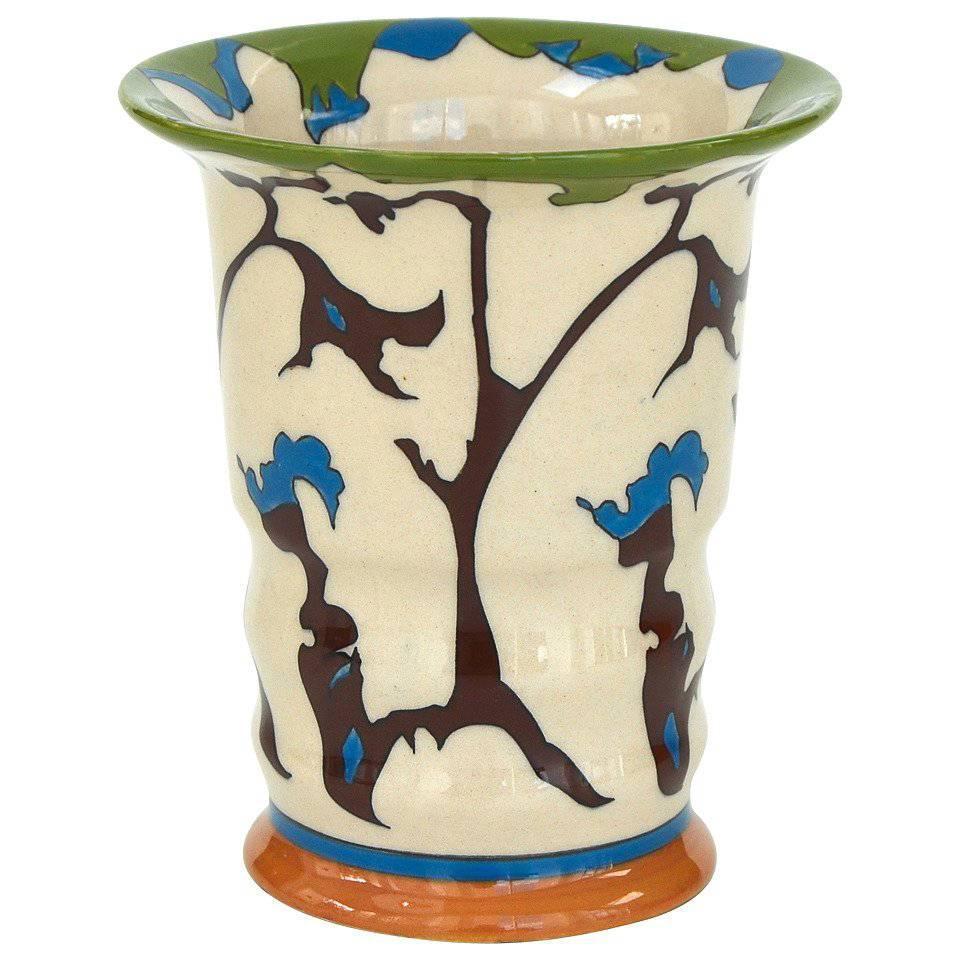 Medium sized constance spry mantle vase for fulham pottery for theo colenbrander art deco vase for ram pottery decor rank tendril 1923 reviewsmspy