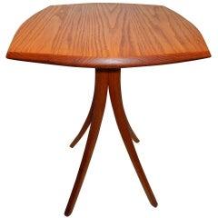 Vintage David N. Ebner Red Oak Side Table