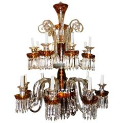 Large Bohemian Glass Chandelier