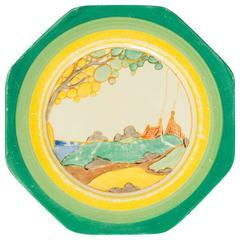 "Clarice Cliff, Plate, Bizarre Range, ""Secrets"" Pattern, circa 1933-1937"