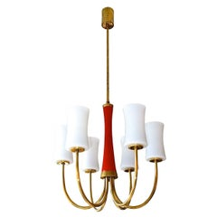 1960s Italian Six-Arm Chandelier
