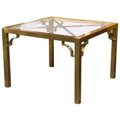 Mastercraft Brass End Table