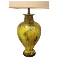 Mid Century Modern Large Pottery Lamp