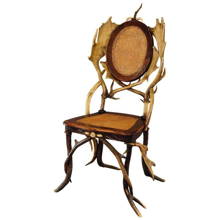 Black Forest Antler Parlor Chair, circa 1900