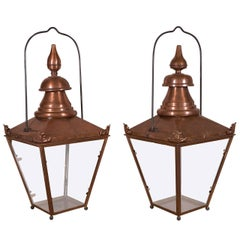 Two French Copper Lanterns