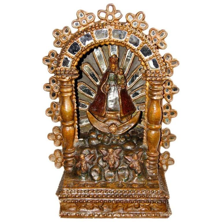 Spanish Colonial Giltwood Altar