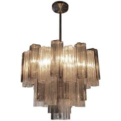 1960s Mid-Century Modern Murano Tronchi Three Tiered Pendant Light by Venini