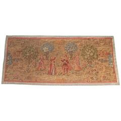 Large Mid-19th Century antique Tapestry Aubusson Style, French Circa 1850