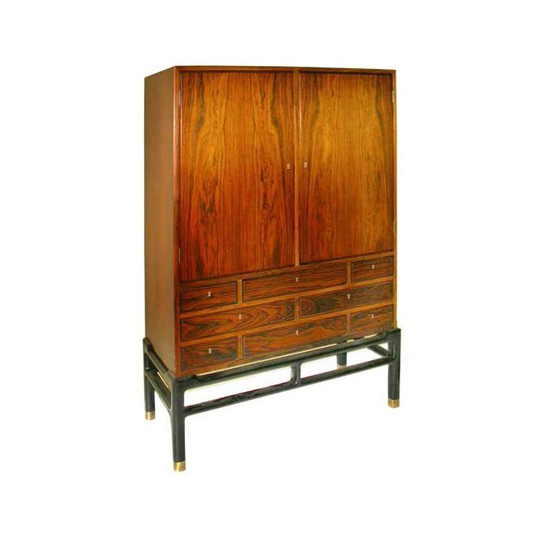 Danish Rosewood Cupboard by Illum Wikkelsø 1
