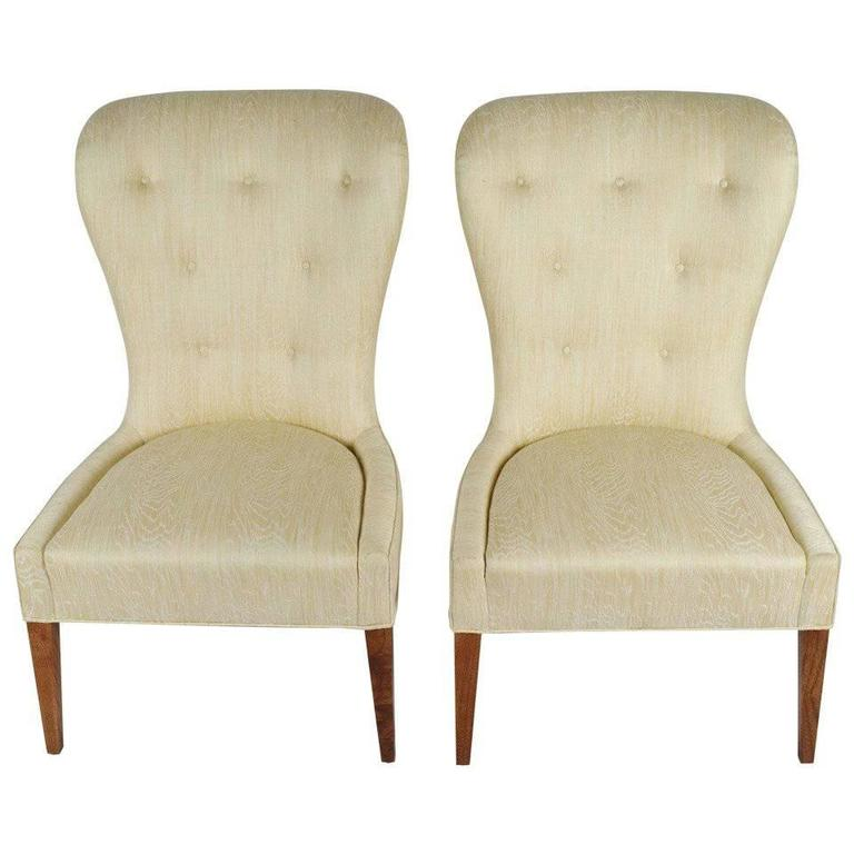 Pair of Modern Balloon Back Chairs