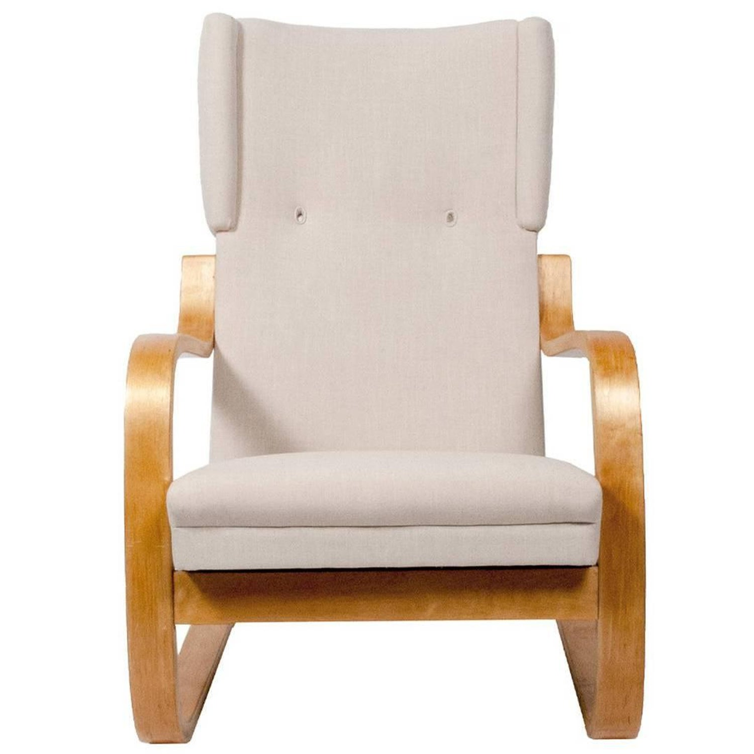 Alvar Aalto Model 36 401 High Back Lounge Chair For Sale at 1stdibs