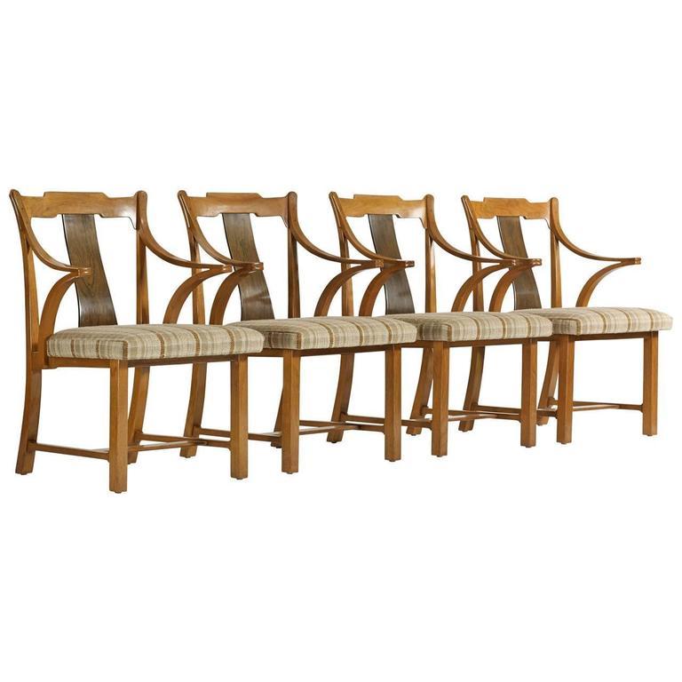 "Edward Wormley Set of Four ""Greene & Greene"" Chairs"