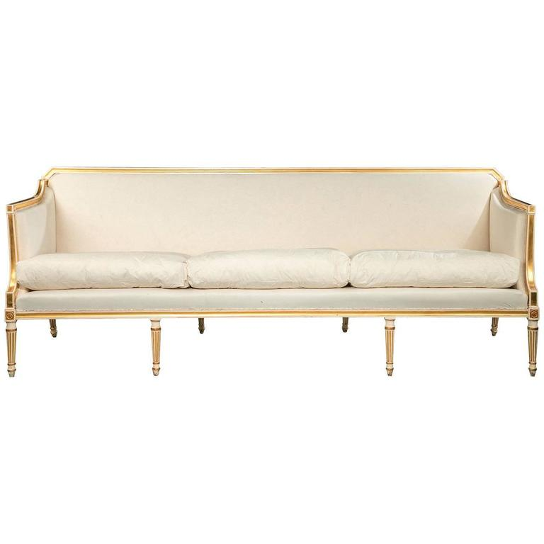 George III Period Parcel-Gilt Sofa