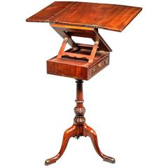 George III Period Mahogany Reading and Writing Table