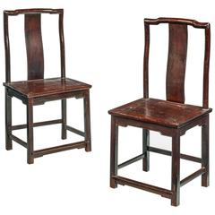 Pair of Early 19th Century Chinese Side Chairs