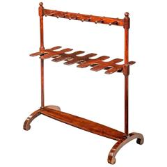 George III Period Mahogany Boot and Whip Rack