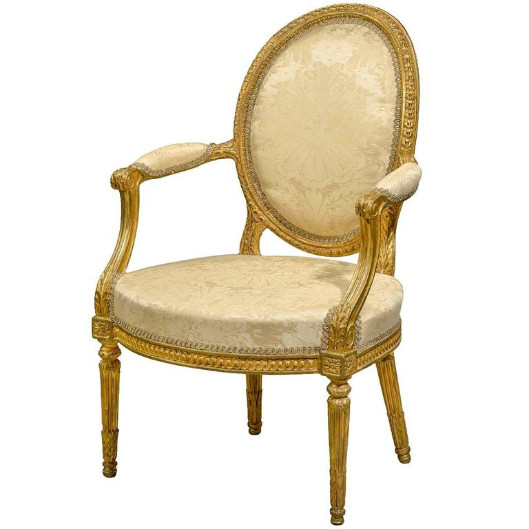 chippendale period giltwood elbow chair for sale at 1stdibs. Black Bedroom Furniture Sets. Home Design Ideas