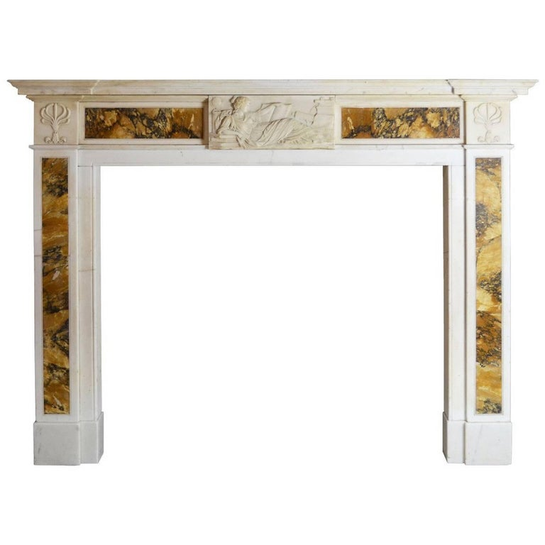 19th Century Regency Mantel in Statuary and Siena For Sale