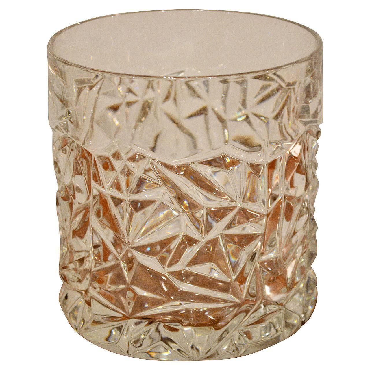"Tiffany & Co. Mid-Century Modern ""Rock Cut"" Crystal Ice Bucket"