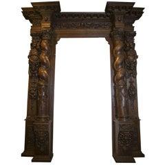 Antique Baroque Carved Portal