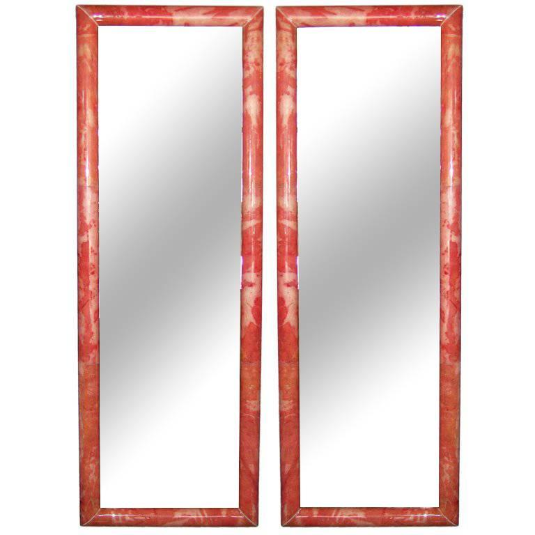 Pair of Parchment Mirrors