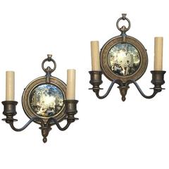 Mirrored Back Sconces