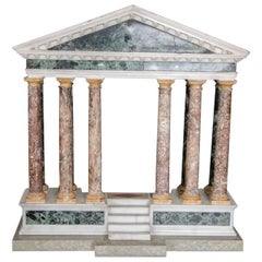 Finely Detailed Grand Tour Model of a Palladian Portico