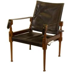 Rosewood Safari Chair in the Style of Carl Auböck