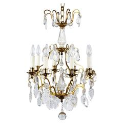 French Napoleon III Crystal Chandelier, Late 1800s