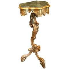 Italian Rococo Giltwood Side Table