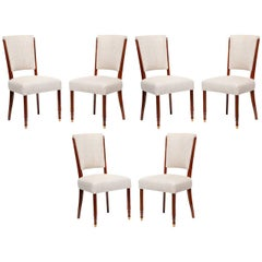 Jules Leleu, Set of Six Dining Chairs, France, C. 1957