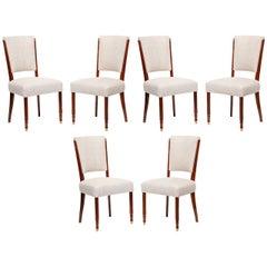 Jules Leleu, Set of Six Dining Chairs, France, C. 1957