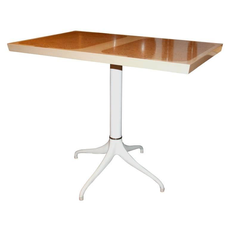 Custom Design Pedestal Console Table by Paul Laszlo For Sale