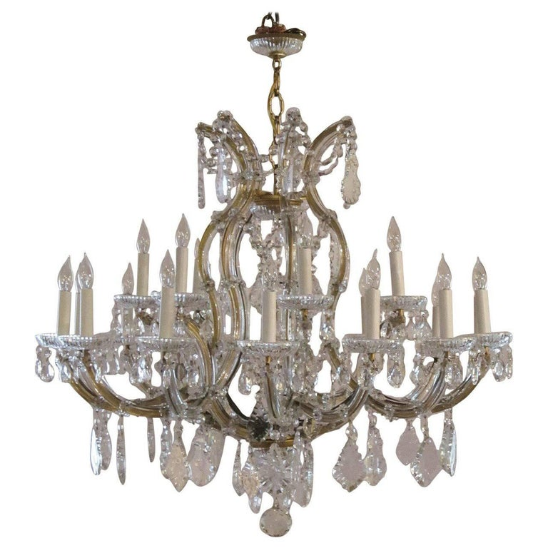 Large Maria Theresa Twenty-Two-Light Chandelier 1