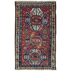 """3'9"""" x 6'3"""" Antique Lenkoran Rug, Caucasian, Kazak"""