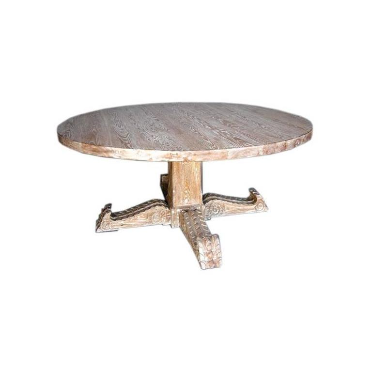 heir table and an space oak pedestal antique
