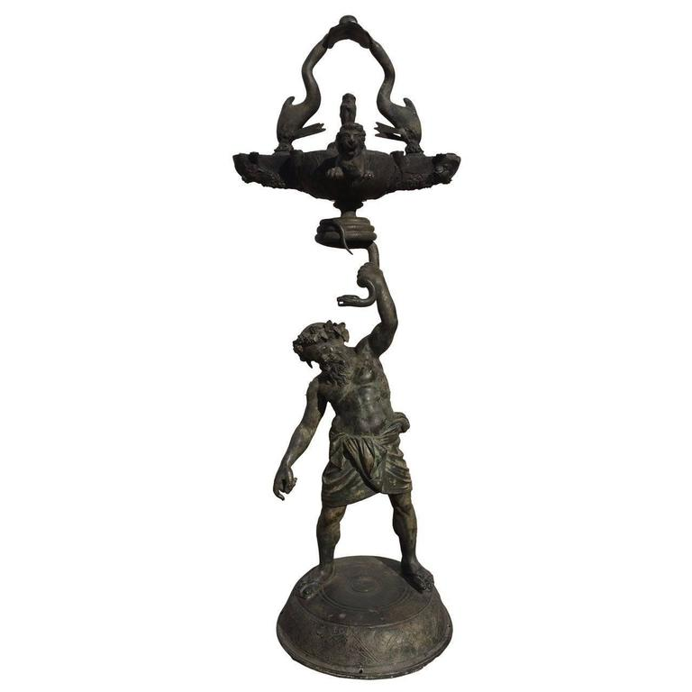 Grand Tour Pompeian Bronze of Silenus, Large Scale