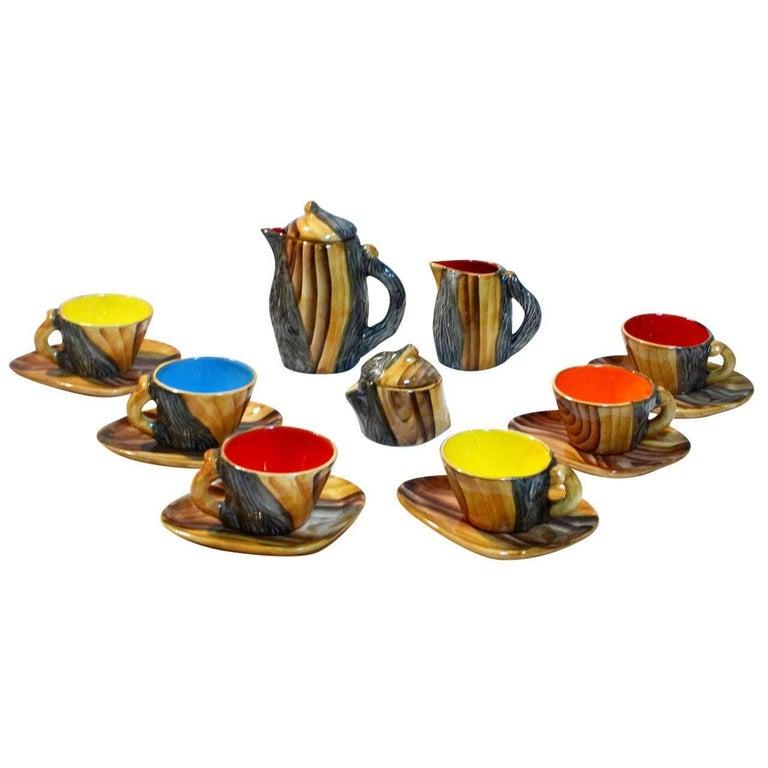 Vallauris Faux Bois Tea Set