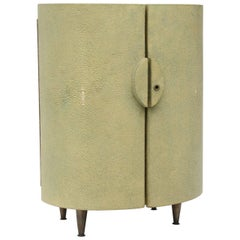 R & Y Augousti Shagreen Covered Jewelry Cabinet