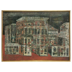 Abstract Venetian Cityscape Painting by Olivier Charles