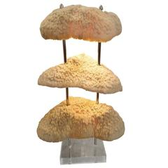 Custom Three-Tier Artful Coral Lamp