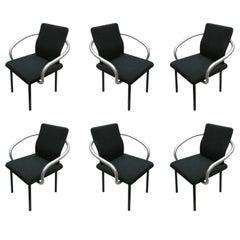 Set of Six Mandarin Chairs Designed 1986 Ettore Sottsass for Knoll International