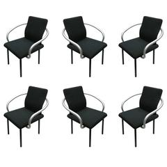 Set of Six Mandarin Chairs Designed 1986 Ettore Sottsass for Knoll International