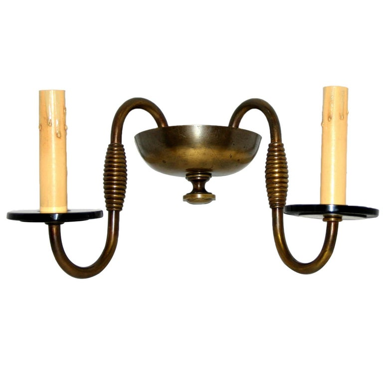 Pair of Art Deco Bronze Sconces