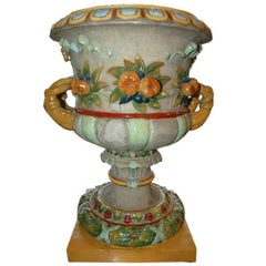 Large Glazed Stoneware Urn by Zsolnay