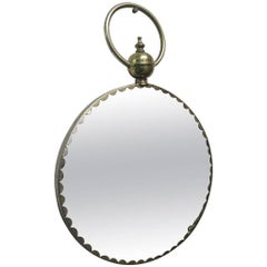 Italian Decorative Brass Mirror